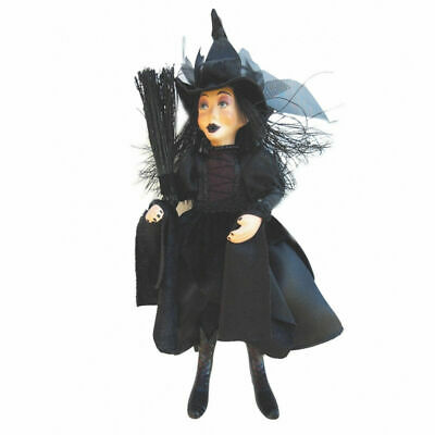 Witches Of Pendle - Zara Goth Witch Hanging (Black) 24cm Ornament Halloween New • 19.95£
