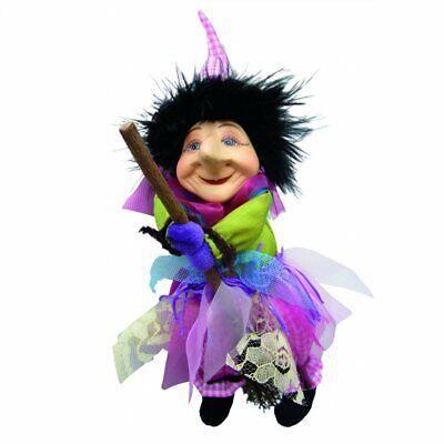 Witches Of Pendle - Emily Witch Flying (Floral) 20cm Ornament Gift Halloween • 12.99£