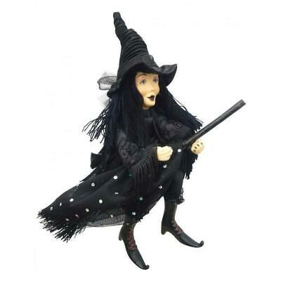 Witches Of Pendle - Zilla Goth Witch Hanging (Black) 50cm Ornament Halloween New • 29.95£