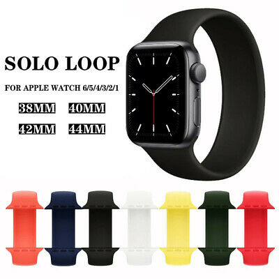 $ CDN5.04 • Buy SOLO Elastic Belt Loop Silicone Strap For Apple Watch 6 SE 5 4 3 2 1 IWatch Band