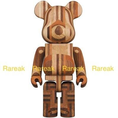 $2488.99 • Buy Medicom Bearbrick 2020 Karimoku Wood Yosegi 400% Wooden Be@rbrick 寄木