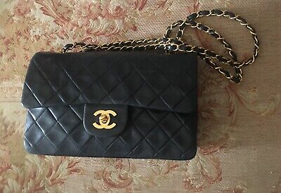 £3200 • Buy Chanel Black Lambskin Leather Classic Small Double Flap Bag- 100% Authentic Exce