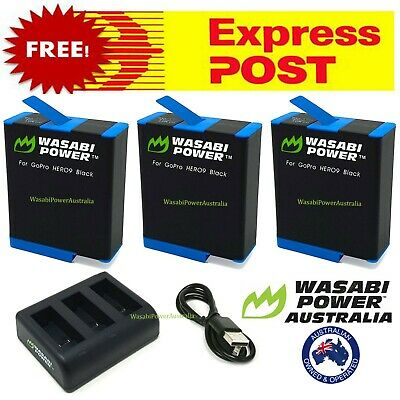 AU99.50 • Buy GoPro HERO8 9 7 6 5 4 3 3+ Battery / Dual/Triple Charger / Wasabi HERO Black Kit