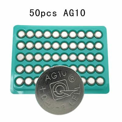 AU11.68 • Buy 50pcs AG10 LR1130 1130 SR1130 389A LR54 L1131 389A 1.5V Button Battery MP3 Playe
