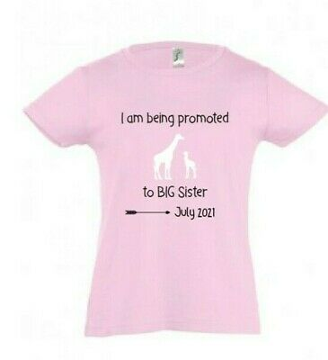 Personalised I'm Going To Be A Big Sister T-Shirt Boys Annoucement Tshirt Top • 8.99£