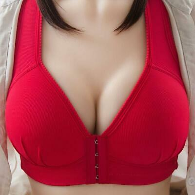 Ladies Bra Plunge Push Up Padded Lace Top Front Opening Sexy Plus Size • 4.90£