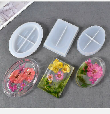 £4.99 • Buy Silicone Resin Casting Mold Soap Dish Holder Jewelry Plate Tray Epoxy Mould Tool