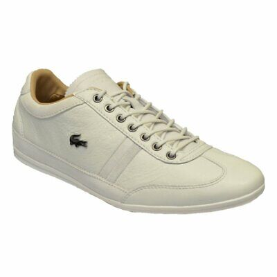 Lacoste Misano Leather/Suede Off White (N13) Mens Trainers In Various Sizes • 49.99£