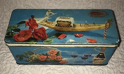Collectable Vintage Jacob's Metal Biscuit Tin Italian Design Hinged Lid • 8£