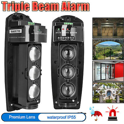 £37.54 • Buy Triple Beam Alarm Photoelectric Infrared LED Detector Security System ABE-250