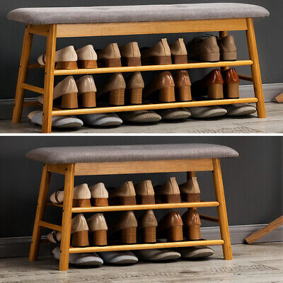 £55.95 • Buy Shoe Bench Shoe Rack Storage Cabinet Hall Bench With Seat Cushion Home Hallway