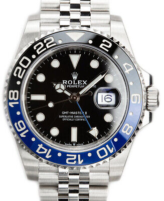 $ CDN25405.64 • Buy Rolex NEW GMT-Master II Black/Blue Mens Ceramic Steel Box/Papers BATMAN 126710