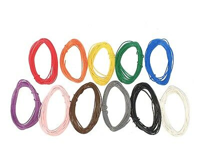 £2.49 • Buy 1/0.6mm Single Core Equipment /Hook Up Wire 5m Rolls-22AWG -11 Colours
