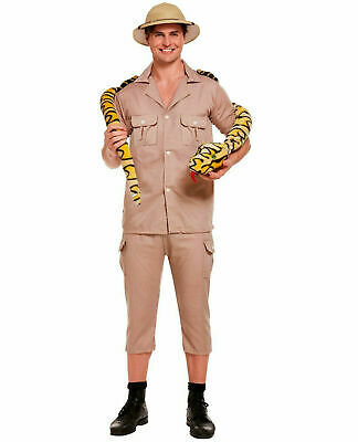 Adults Safari Explorer Costume Zoo Keeper Fancy Outfit Theme Party Jungle Dress • 15.99£