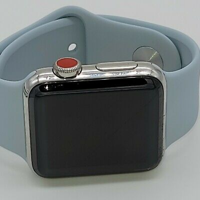 $ CDN265.74 • Buy Apple Watch Series 3 38mm Stainless Steel Case With Soft White Sport Band (GPS +