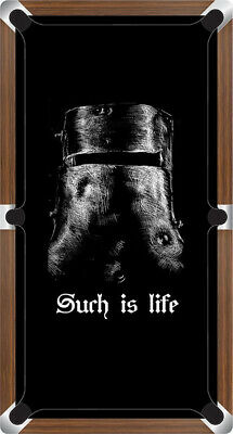 AU878.99 • Buy Graphic Digitally Printed Outlaw Ned Kelly Helmet Such Is Life 9ft Pool Table Cl