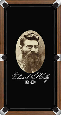 AU878.99 • Buy Graphic Digitally Printed Outlaw Ned Kelly Portait 9ft Pool Table Cloth
