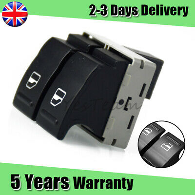 £6.84 • Buy NEW For VW Transporter T5 2003-206.14 Electric Window Switch Front 7E0959855A UK
