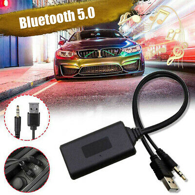 $10.31 • Buy Bluetooth 5.0 Receiver Adapter USB +3.5mm Jack Stereo Audio  For Car AUX Speaker