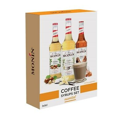 MONIN COFFEE SYRUP GIFT SET 3 X 5 Cl - INCLUDES 3 DIFFERENT FLAVOURS • 8.25£