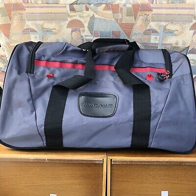 Swiss Gear Black/Gray/Red Large Duffle Luggage Travel Bag • 28.62£