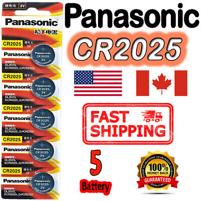 $ CDN3.49 • Buy 5 Pieces SONY CR2025 Button Cell Lithium Battery 3V. ** EXP. 2028 ** FREE RETURN