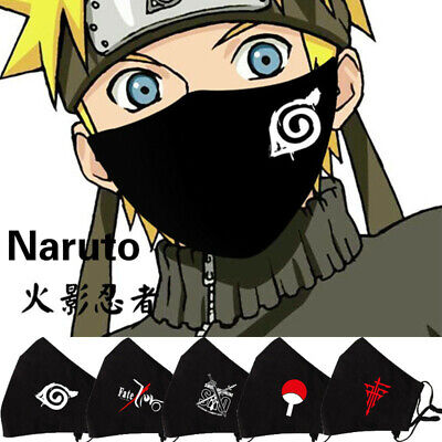 Anime Naruto Sword Art Online FATE Cosplay Warm Cotton Masks Masquerade Gift • 6.99£