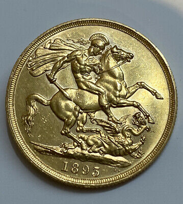 £1699.99 • Buy 1893 Victoria St George And The Dragon £2 Two Pound Gold Double Sovereign Coin