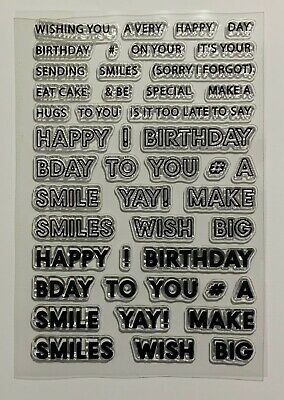 Happy Birthday Clear Stamp Set - Different Sentiments, Words, Texts & Sizes • 4.99£