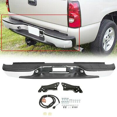 $182.55 • Buy NEW Complete - Chrome Steel Rear Step Bumper For 1999-2006 Chevy Silverado Truck