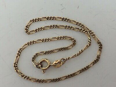 AU150 • Buy 9ct Solid Yellow Gold Flat Figaro Link Ankle Chain / Anklet  23cms
