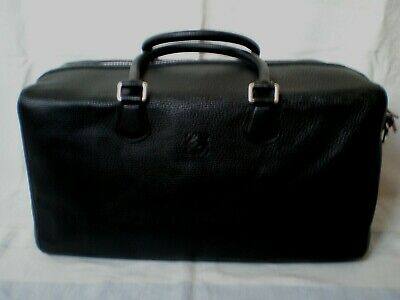 Authentic Loewe Travel/weekend Bag - Black Leather & Red Lining - Only Light Use • 325£