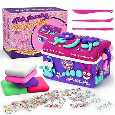 DIY Jewellery Box, Gifts For Teenage Girls, Arts And Crafts Wooden With Clay Kit • 12.99£