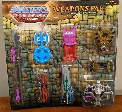 $86.99 • Buy Weapons Pak R5959 MOTUC Masters Of The Universe Classics Sealed MOC - FREE SHIP