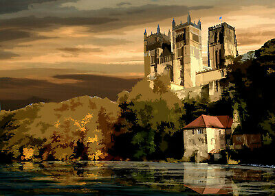 £15 • Buy Durham Cathedral And River Limited Edition Art Print By Sarah Jane Holt