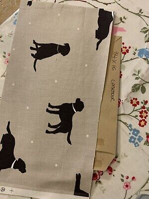 Fabric Remnant Patchwork Sewing Craft Material Clarke Labrador Dogs 34x16cm • 3.50£