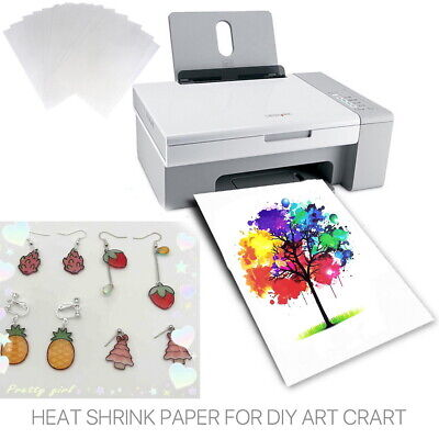 AU26.99 • Buy Up 20PCS Heat Shrink Paper Film Sheets Printable DIY Jewelry Craft For Printer