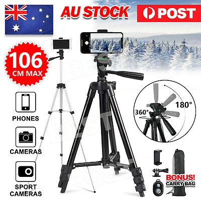 AU16.95 • Buy Telescopic Camera Tripod Stand Holder Mount For Phone Universal
