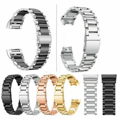 AU16.99 • Buy  For Fitbit Charge 2 / 2 HR Stainless Steel Watch Band Metal Strap Bracelet