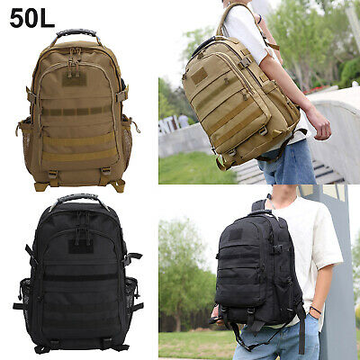 £18.99 • Buy 50L Army Backpack Rucksack Camping Hiking Military Tactical Trekking Bag Outdoor