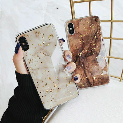 Bling Marble Case For IPhone 12 XR 7 8 Plus X XS SE 2020 11 Pro Max Phone Cover • 3.85£