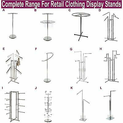 £9.99 • Buy  Professional Heavy Duty Clothing Retail Display Stands Garment Dress Shop Rails