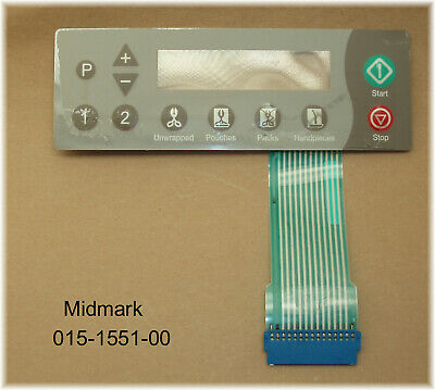 $35.89 • Buy Used Midmark M11 M9 M09-D Autoclave Touch Pad Keypad 015-1551-00