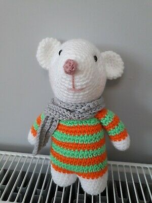 £7 • Buy Hand Made Crochet Mouse, Amigurumi Animal, Toy, Gift, New, Not Knitted