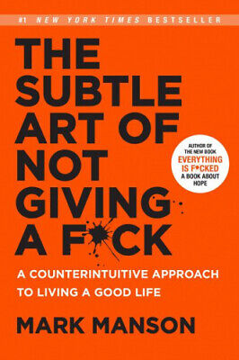 AU31.78 • Buy The Subtle Art Of Not Giving A F*ck: A Counterintuitive Approach To Living A