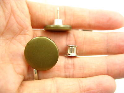 Bronze Tool Free Jean Button Replacement Snap Buttons Metal Flat Adjust Button • 2.99£