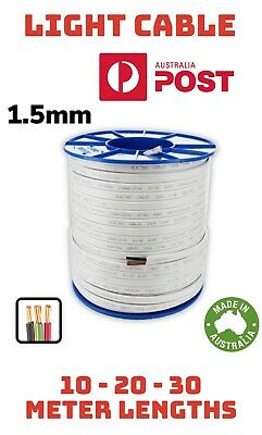 AU30 • Buy 10m 20m 30m 1.5mm Electrical Cable Wire 3 Core (2c+e) TPS 240V  *Light Circuits*