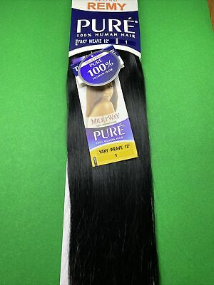 $20 • Buy Milky Way PURE Human Hair Weave Extension Yaky_12 _#1