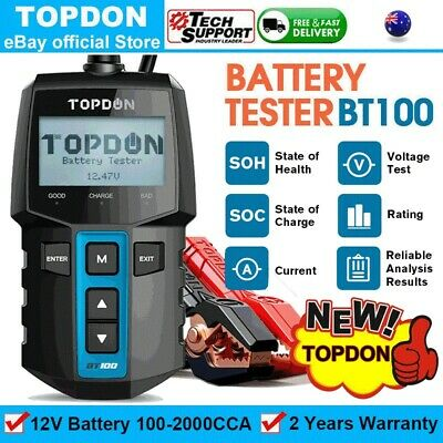 AU84.99 • Buy Topdon BT100 12V Automotive Car Battery Tester Charging Cranking Test Analyzer