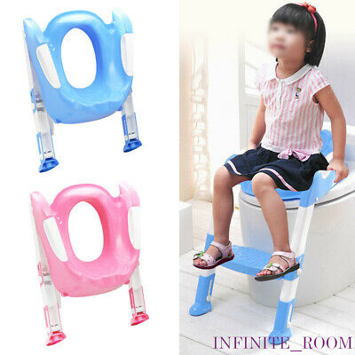 Foldable Baby Potty Infant Kids Toilet Chair Portable Training Seat With Ladder • 9.89£
